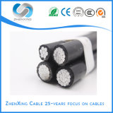 Duplex Triplex Twisted Aluminum Conductor XLPE Insulated Overhead Aerial Bundled ABC Cable