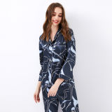 100% Silk Customize Nightgown Robe Lady Sexy Pajamas