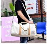 Customized Cotton Canvas Vintage Travel Duffel Bags Waterproof Men Gym Handbag