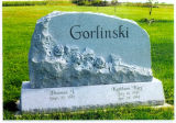 Grey Granite Modern Abstract Style Tombstone Headstone Monuments Gravestone for Cemetery
