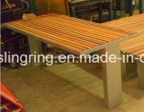 Public Outdoor Waiting Chair with Plastic Wood Panel, Fabrication