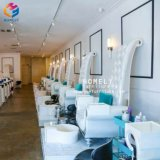 King Throne White Pedicure Chair with Food Basin Tech Chairs Wholesale