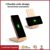 Wood Looking Wireless Charger Has Qi Certificate on Hot Selling
