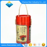 Custom Foil Paper Cardboard Food Tube with Handle