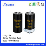 Long Life 6000hours Screw Aluminum Capacitor 6800UF 500V