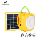Rechargeable LED Solar Lantern Lamp with Mobile Phone Charger for Camping