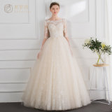 Elegant Lace Sleeve Muslim Sexy Wedding Gown