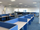 Blue Design Office Wooden Dividers Call Center System