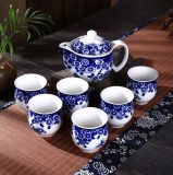Ceramic Tea Pot Set with Floral Design for Tea Shop
