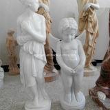 White Marble Stone Figure Sculpture Garden Decoration