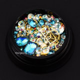 Nail Art Polish Tip 3D Round Bead Jewelry Make up Beauty Fingernails Decoration
