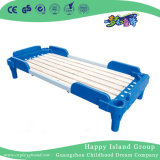 Eco Friendly Children Furniture Plastic School Single Bed with Cartoon Images (HG-6202)