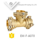 Brass Pipe Fitting Flanegd Tee Forging Flange Connector (EM-F-A070)