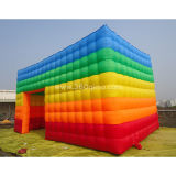 Large Outdoor Blow up Cube Wedding Party LED Light Camping Inflatable Tent Price for Outdoor Events It028