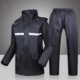 High Visibility PVC Safety Raincoat 100%Waterproof Breathabraincoat