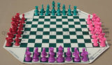 OEM High Quality Folding 4 Players Chess Set Board Game
