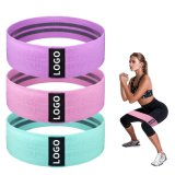 Custom Printed Exercise Hip Fabric Fitness Resistance Band with Logo Set Resistant Strength Training Workout Yoga Elastic Belt Loop Gym Equipment Wholesale 11PC