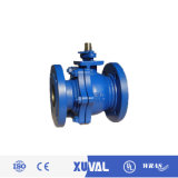 DIN Pn16 Two-Piece Casit Iron Flange Ball Valve (Q41F-16)