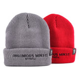 Custom Winter Knitted Beanie Hat with Embroidery