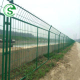 Guangzhou Wholesale Cheap Anti Climb Security PVC Coated Metal Frame Wire Mesh Railway Fence Workshop Fencing