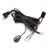 LED Light Bar Work Light Universal Relay Harness Wire Kit Switch Control with Switch 1 Wire Connect 1 Lights 2 Lights