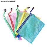 Mesh Zipper Package Bag PVC Clear File Folder Document Bag