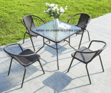 PE Rattan Table and Chair Set for Outdoor Garden Furniture (LL-RST013)
