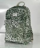 Fashion Leopard Fabric School Backpack Bag