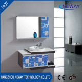Steel Bathroom Washbasin Cabinet with Side Cabinet