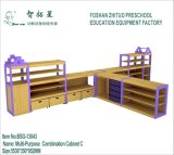 Baby Toy Chest Preschool Wooden Shelve