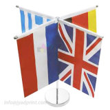 Wholesale Mini National Table Top Flag With Metal Pole/Base
