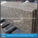 Full Bullnose Solid Surface Giallo Fiorito Granite Countertops for Kitchen