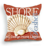 Decoration Square Shore Shell Design Decor Fabric Cushion W/Filling