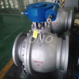 Geared Turnnion Flange Connection Cast Carbon Steel Wcb Ball Valve