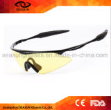 Customized Wrap Around Sport Sunglasses Yellow Lens Night Vision Outdoor Sport Eyewear Night Driving Glasses