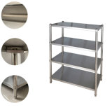 Cheap Stainless Steel Work Table with 3 Layers