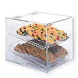 Yageli 3 Layer Food Dosplay Acrylic Biscuit Box with Lowest Proce