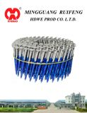 "Round Head, Flat Type, 2"" X. 093"", Ring Shank, Hot DIP Galvanized, 15 Degree Wire Collated Siding Nails, Coil Nail"