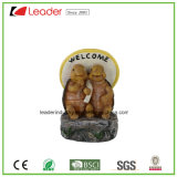 Funny Tortoise Family Solar Lights Polyresin Figurine for Outdoor Decoration