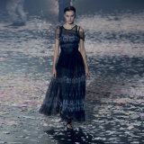 New Design Women's Blue Printing Dress, Party Evening Dress Summer/Fall Clothing