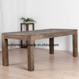 Reclaimed Wood Furniture Vintage Antique Rustic Banquet Table