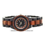 Fashion Two Tone Wood Bracelet Watch for Ladies