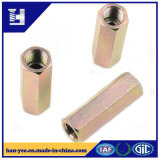 Color Zinc Plate Coupling Nut for Motorcycle Parts