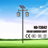 Two Head Solar Garden Light with 12.6V 33ah Lithium Battery