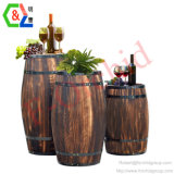 Custom Wooden Packaging Barrel Wine Barrel Cellars Wine Rack Wine Store Display Rack