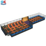 Ok Playground Commercial Rectangle Fitness Indoor Trampoline Parks for Sale