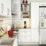 Matt Lacquer Finish White Color Sample Cupboard Modern Kitchen (ACS2-L314)