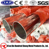 SUS201/202/301/304 Polished Brushed 8K Mirror Stainless Steel Welded Round Pipe Dimension