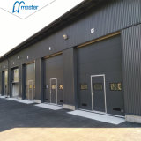 Automatic Commercial Industrial Exterior Vertical Lift Overhead Steel Sectional Door Manufacturer for Logistics or Warehouse