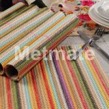 Rainbow Stripped High Quality Plastic Designer Square Dining Table Mate